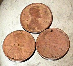 Lincoln Wheat Penny 1911 P,  1912, and 1912 S AA20-CNP2166 Antique image 6