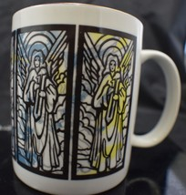 Wonder Mugs Stained Glass with Angels Coffee Cup Mug - $14.99
