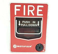 HONEYWELL NOTIFIER NBG-12LX FIRE ALARM PULL STATION IDP-PULL-SA NBG12LX image 3