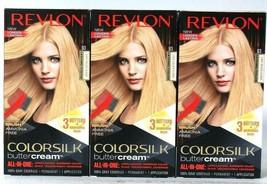 3 Boxes Revlon Luxurious Colorsilk Buttercream 93 Light Golden Blonde Ha... - $29.99