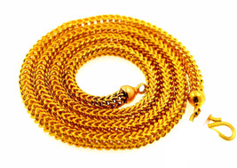 "GORGEOUS AUTHENTIC FOX TAIL CHAIN NECKLACE 20"" LENGTH AWESOME UNISEX JEW... - $2,424.50"