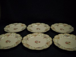 Set Of 6 Luncheon Plate Haviland Limoges Scheilger Pattern 72 Scalloped Edges - $148.49