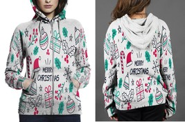 [Perfect Winter Christmas Gift] Merry Christmas Pop Art Hoodie Zipper fo... - $50.99+