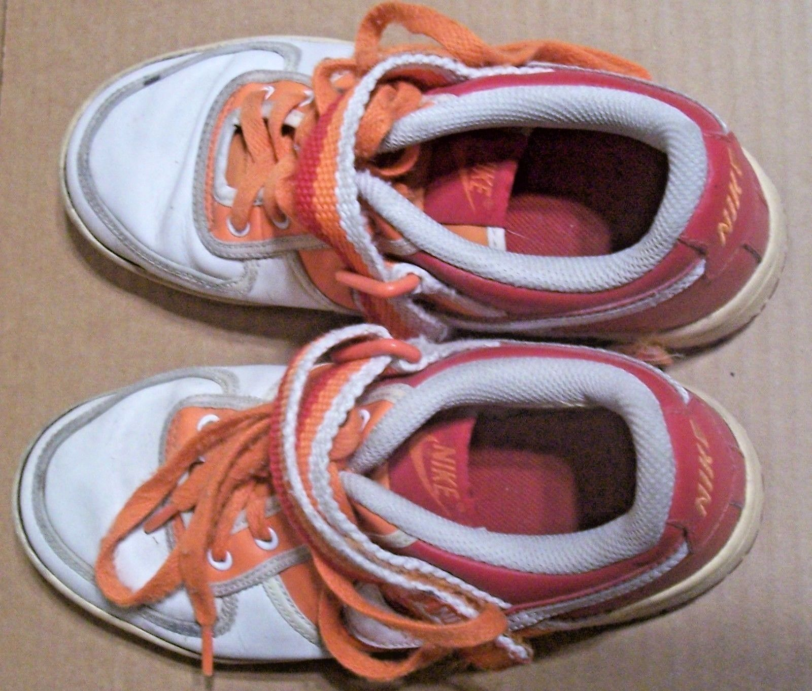Nike Sneakers Size Orange and White 4 Y Youth Boys Girls
