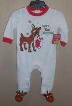 Rudolph Reindeer Sleeper Holiday Christmas 3 Months Unisex Babys First C... - $18.47