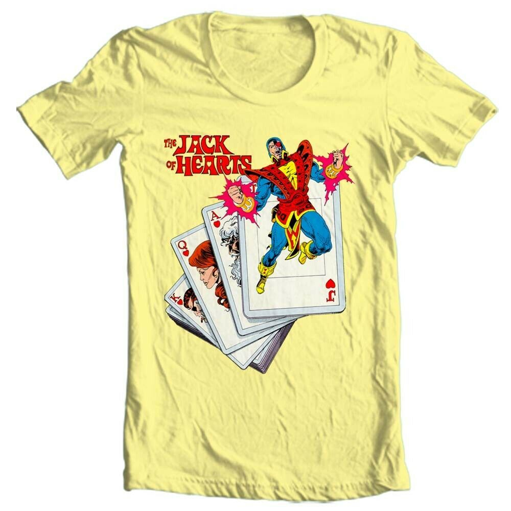 The Jack of Hearts t-shirt marvel comics Defenders retro silver age cotton tee
