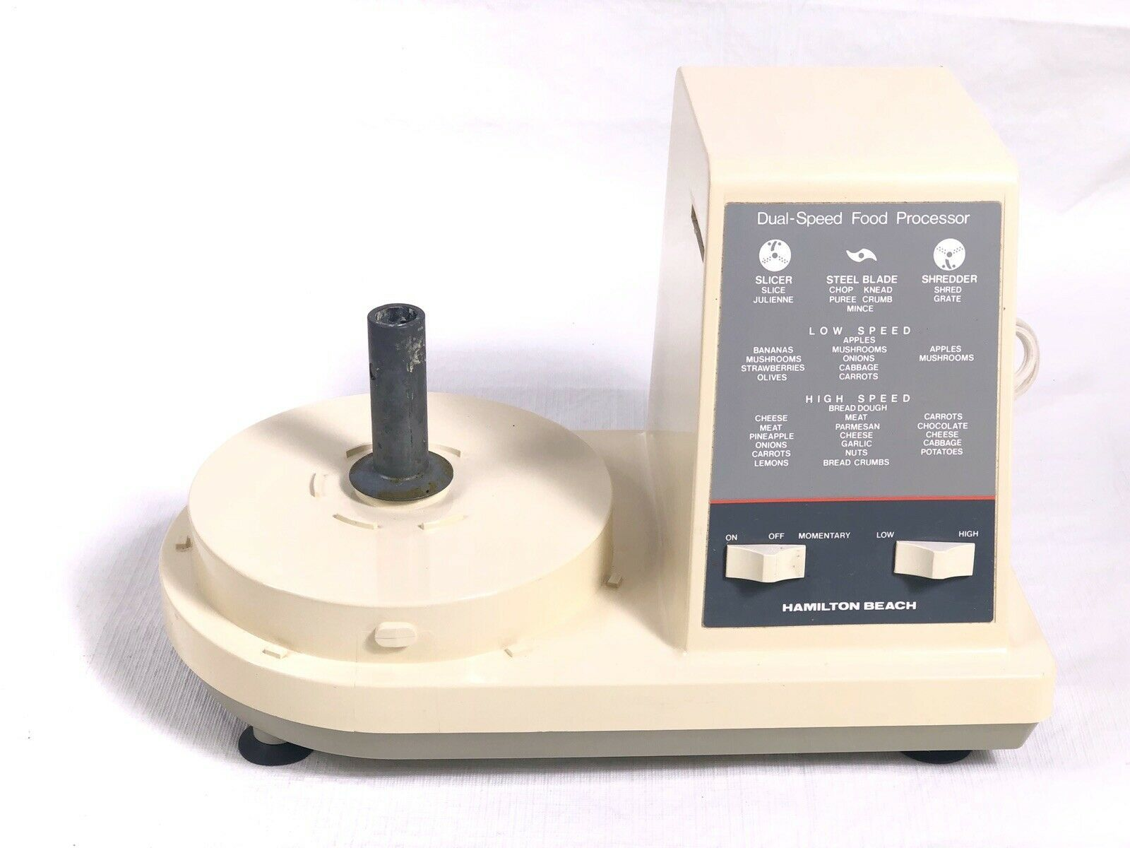 Hamilton Beach 702-7 Food Processor Replacement Part Motor / Base Only Works - $16.65