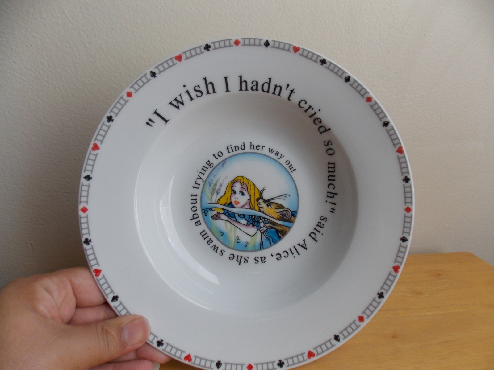 Primary image for Disney Alice in Wonderland Paul Cardew Plate