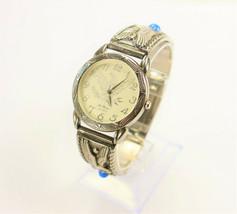 Le Baron Silver Watch with Eagle Quartz 1980's Vintage New - $250.00