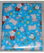 AMERICAN GREETINGS PEPPA PIG CHRISTMAS Wrapping PAPER 20 SQ FT ROLL   - $8.00