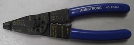 Armstrong 67-901 Electrician's Stripper/Cutter/Crimper Pliers USA - $15.84