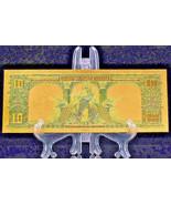 PRECISE DETAIL~GOLD~1901 UNC. $10 DOLLAR BISON Rep*Banknote~Make - $19.99