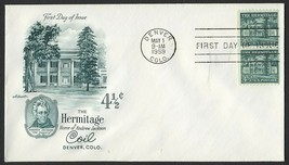 #1059 4 1/2c The Hermitage-Pair, Artmaster-Addressed FDC **ANY 4=FREE SH... - $1.50