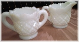 Westmoreland Thumbelina Set  Child's Milk Glass Creamer and Sugar Set - $10.00