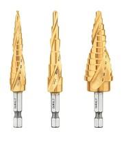 Dewalt Step Drill Bit Set, 3-Piece (DWA1790IR - $80.00