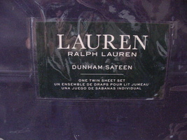 Ralph Lauren Dunham Cadet Blue Navy Sheet Set Twin - $77.00