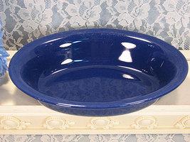 Vintage Homer Laughlin Fiesta Riveria Cobalt Blue Oval Vegetable Serving... - $19.99