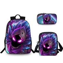 FREE SHIPPING 3pcs/set Enjoy Series Fortnite Backpack School Bag Big Raven - $76.64 CAD