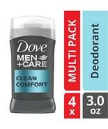 Dove Men+Care Deodorant Stick, Clean Comfort, 3 oz, 4 count - $12.26