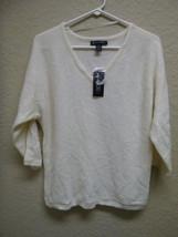 INC International Concepts Petite Dolman Sleeves V-Neck Sweater 3D475 PL - $17.30