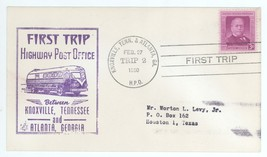 First Trip Highway Post Office Between Knoxville & Atlanta 1950 Trip 2 H... - $2.47