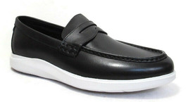 COLE HAAN Grand Plus Essex Wedge Men's Black/White Leather Penny Loafer ... - $79.99