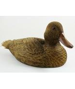 Vintage Duck Decoy Sculpture Wooden Signed Chuck Buzick Illinois 1983 Re... - $1,746.36