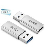 Electop USB 3.1 Type C Female to USB A Male Adapter 2 Pack, Type A to C ... - $6.73