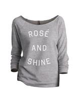 Thread Tank Rose And Shine Women's Slouchy 3/4 Sleeves Raglan Sweatshirt... - $24.99+