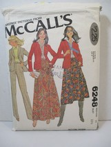 McCall's Pattern 6248 Miss Size 10 Blazer Skirt 2 Lengths Pants Cut Vintage - $10.88