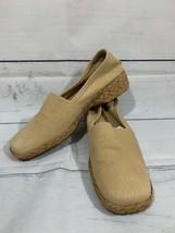 Easy Spirit Women's Tan Canvas Seasta Espadrille Jute Wedge Shoes Sz 7.5 - $24.04