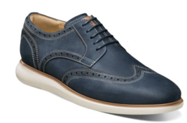 Mens comfort Florsheim Mens Walking Shoes Fuel Wingtip Oxford Indigo 14238-401 - $119.99