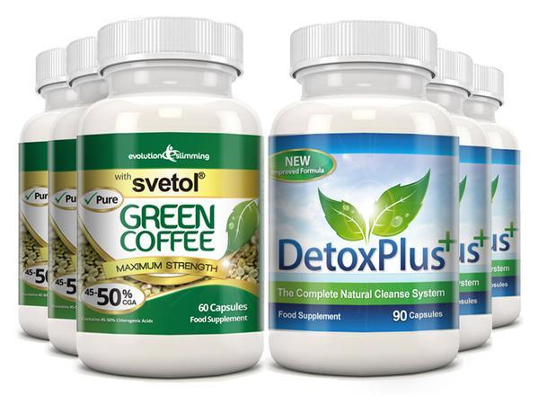 Pure Svetol Green Coffee Bean 50% CGA & Detox Cleanse Pack 3 Month Supply - $142.99