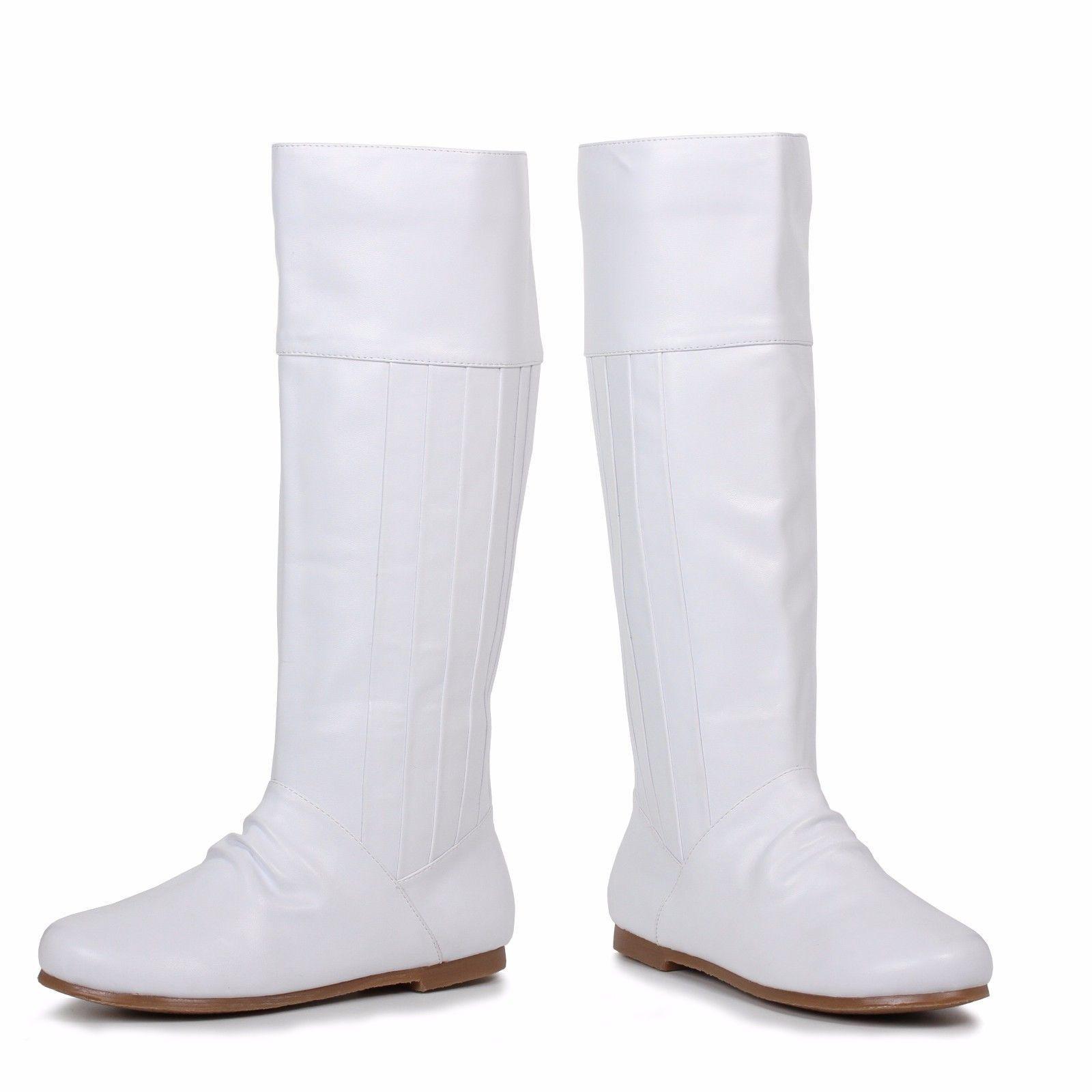 Ellie Shoes Leanna Tacco Scarpa Stivaletto Halloween Sexy Bianco Al Ginocchio