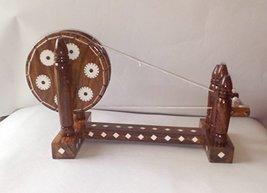 Handcrafted WOODEN CHARKHA vintage design showpiece - $39.60