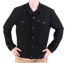 Levi's Men's Premium Cotton Button Up Denim Jeans Jacket Black 723350013 size S