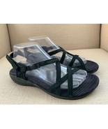 Merrell Aster Black Nubuck Leather Strappy Sport Sandals US women 9 - $21.19