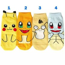 4 pairs Pokemon Socks Pikachu Squirtle Merch Nintendo Ankle Trainer Boat... - $6.92