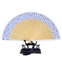 Folding Fan Artware Blue and White Porcelain    QHC-02(white handle) - $10.44