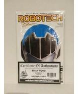 ROBOTECH #1 SIGNED BRIAN WOOD - MIDTOWN COMICS - COA - FREE SHIPPING - $23.38