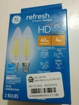 GE Lighting 31741 Refresh HD Decorative LED Light Bulbs, Candelabra-Base - $12.82