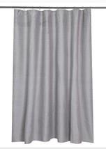 Gray Stripe Pleat Shower Curtain Fieldcrest Nwop Pleated - $13.49