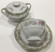 Vintage Meito Kenwood Fine China Japan 4 Pc. Set (Cup,Saucer,Sugar Bowl ... - $24.74