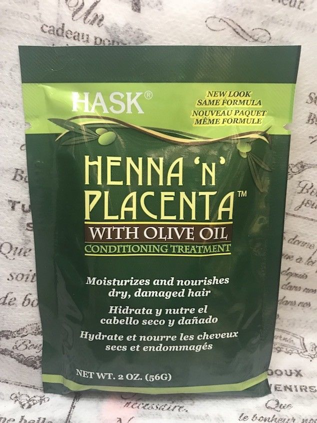 HASK HENNA 'N' PLACENTA WITH OLIVE OIL CONDITIONING TREATMENT 2 oz