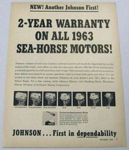 1962 Print Ad Johnson Sea-Horse Outboard Motors 7 Models Shown - $11.39