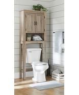 Rustic Bathroom Cabinet Over Toilet Bath Space Saver Storage Shelf Organ... - $97.90