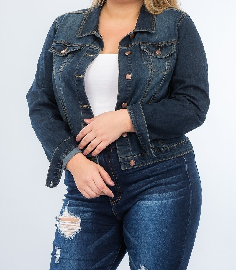 Plus Size Denim Jacket, Denim Jacket, Stretch Denim Jacket, Stretch Jean Jacket