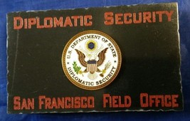 Diplomatic Security San Francisco Field Office w State Dept DSS Emblem M... - $54.45