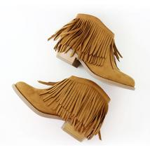 jervis-tan suede ankle boots Booties - $23.99