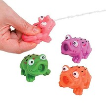 One Dozen Vinyl Frog Squirts/Bath Tub Toys/Water Toys/Pool and Beach Toys/Water